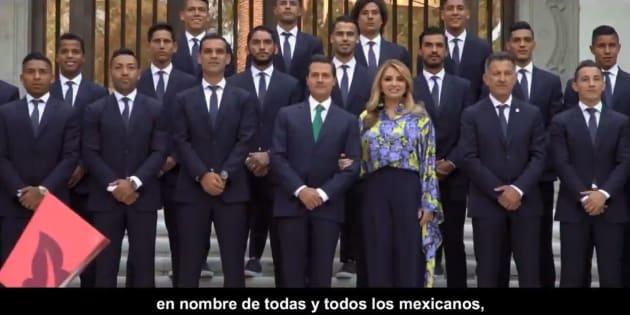 Peña Nieto expresó su reconocimiento a los jugadores y confió en que darán lo mejor de sí.