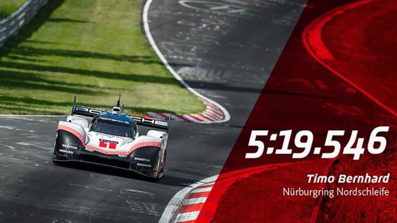 Porsche 919 Hybrid Evo Sets An Astonishing New Nurburgring Lap Record Autoblog