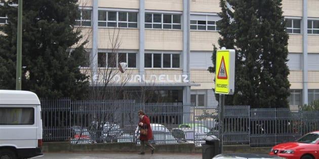Fachada del colegio Valdeluz, en Madrid, en una imagen de archivo.