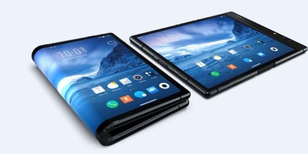 Le FlexPai de Rouyu Technology, premier smartphone à écran pliable au monde.
