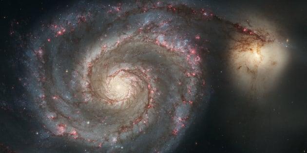 Photo d'illustration: les galaxies M51a et M51b, dont les masses sont proches du Nuage de Magellan et de la Voie lactée