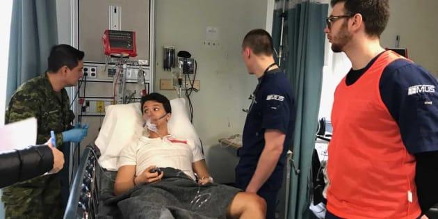 L'armée canadienne a réalisé un exercice médical au CHUM, dimanche.
