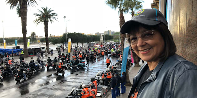 Patricia de Lille at the Grand parade for the Bikers for Mandela Day event.