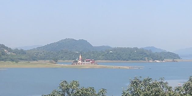 A view of the Bhakra reservoir on 14 September 2018.