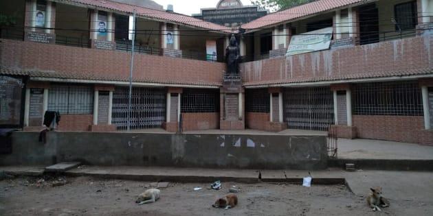 The Congress's head office in Bilaspur city, Chhattisgarh.