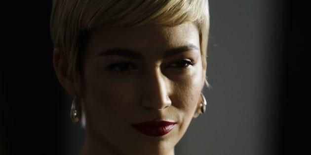 La actriz Úrsula Corberó durante el photocall de 'La Casa de Papel' en Madrid.