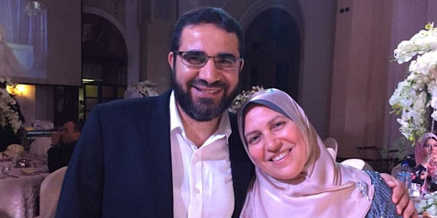 Yasser Ahmed Albaz and his wife Safaa Elashmawy are seen in an undated handout photo.