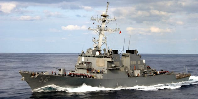 Le destroyer lance-missiles USS John S. McCain (photo d'illustration).