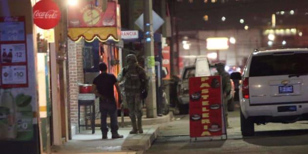 Rondines de vigilancia tras el enfrentamiento la noche del lunes.