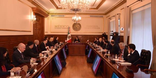 Reunión del presidente Enrique Peña Nieto y el secretario de Estado de EU, Mike Pompeo.