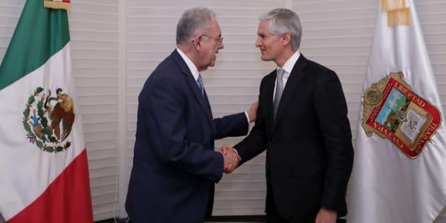 Gobernador de Estado de México y titular de la Secretaría de Comunicaciones y Transportes se reúnen para fortalecer el aeropuerto de Toluca.