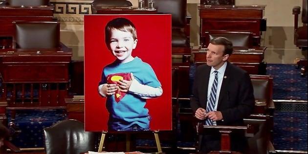 Sen. Chris Murphy remember Sandy Hook victim Dylan Hockley in a poignant finish to his 15-hour filibuster for gun violence legislation,