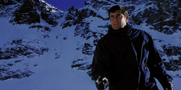 George Lazenby in the Swiss Alps 'On Her Majesty's Secret Service'.