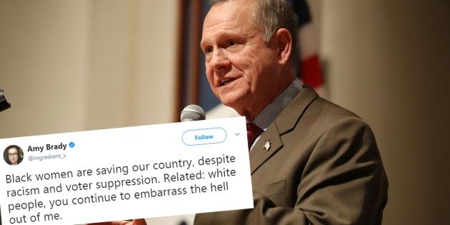 """Roy Moore battu en Alabama, ces Américains remercient les """"Black women"""" pour leur vote décisif"""