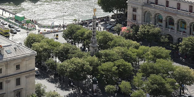 La place du Châtelet à Paris, où doit se tenir la manifestation pro-palestinienne.