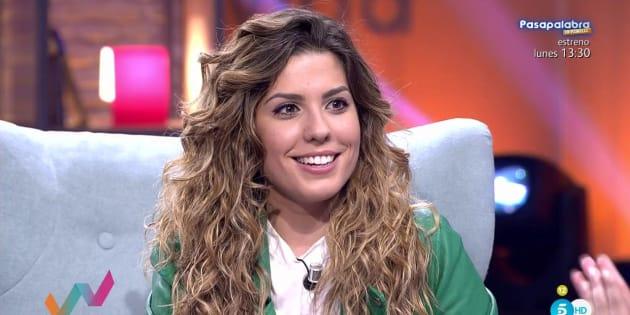 La exconcursante de Operación Triunfo Miriam Rodríguez en el programa Viva la vida de Telecinco.