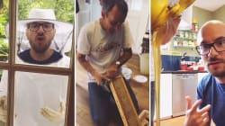 Kyan Khojandi et Bérengère Krief apiculteurs d'un jour chez Elie