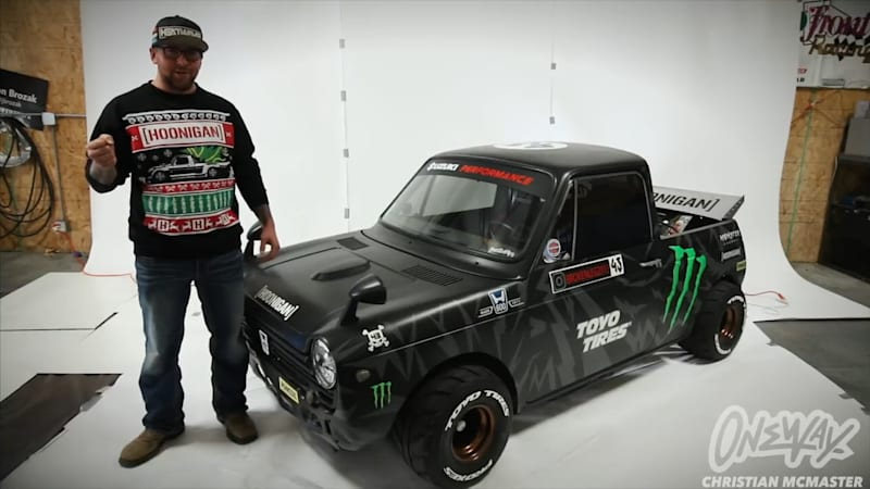 GSX-R100-Swapped Honda N600 looks up to Ken Block's