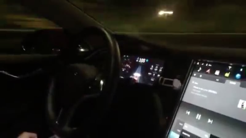 Watch Tesla's Autopilot feature drive itself on a highway ...