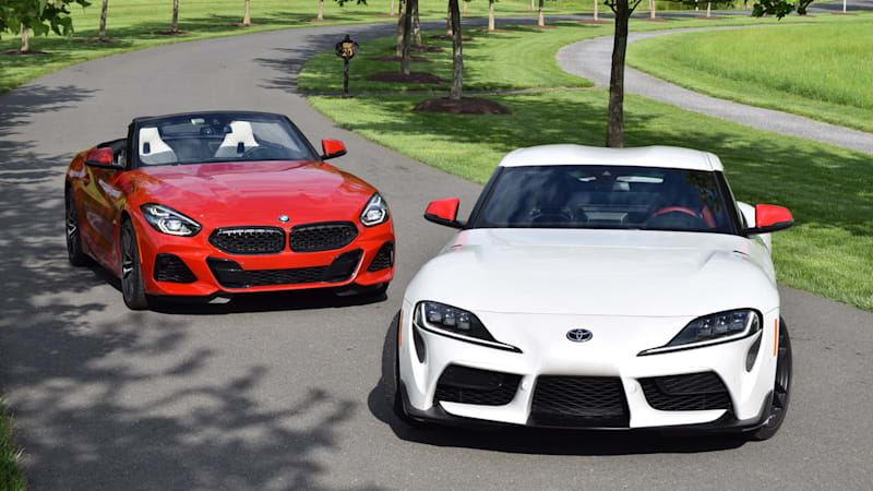 2020 Toyota Supra vs  2020 BMW Z4 Comparison Test