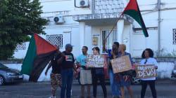 Des manifestants empêchent Philippot d'accéder aux locaux d'une télé en