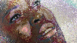Huge Sequin Portraits Paint SA Women In Different