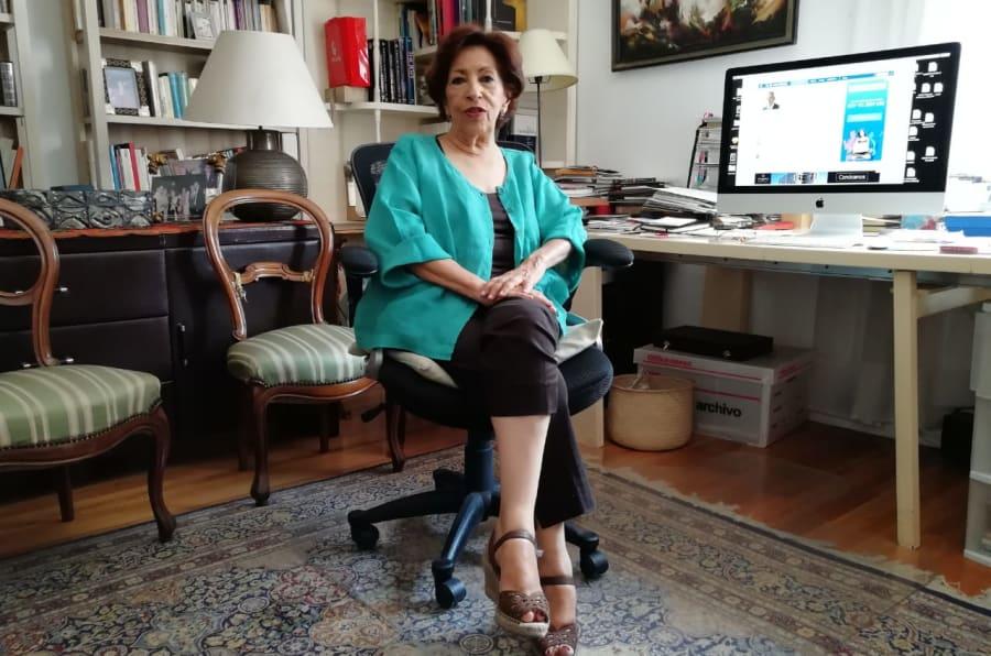 Gloria López Morales, presidenta del Conservatorio de la Cultura Gastronómica Mexicana en su despacho al sur de la Ciudad de México