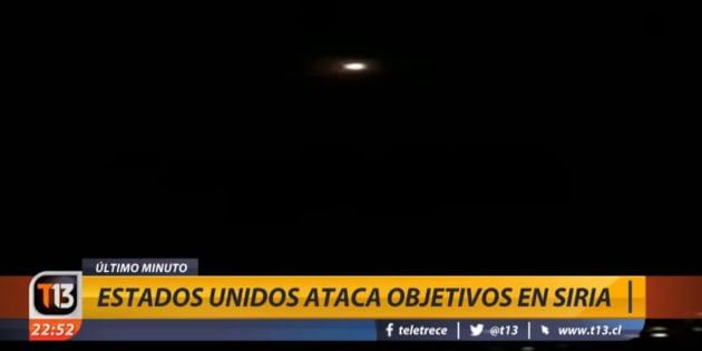 Tomada de la transmisión en vivo del canal argentino T13.