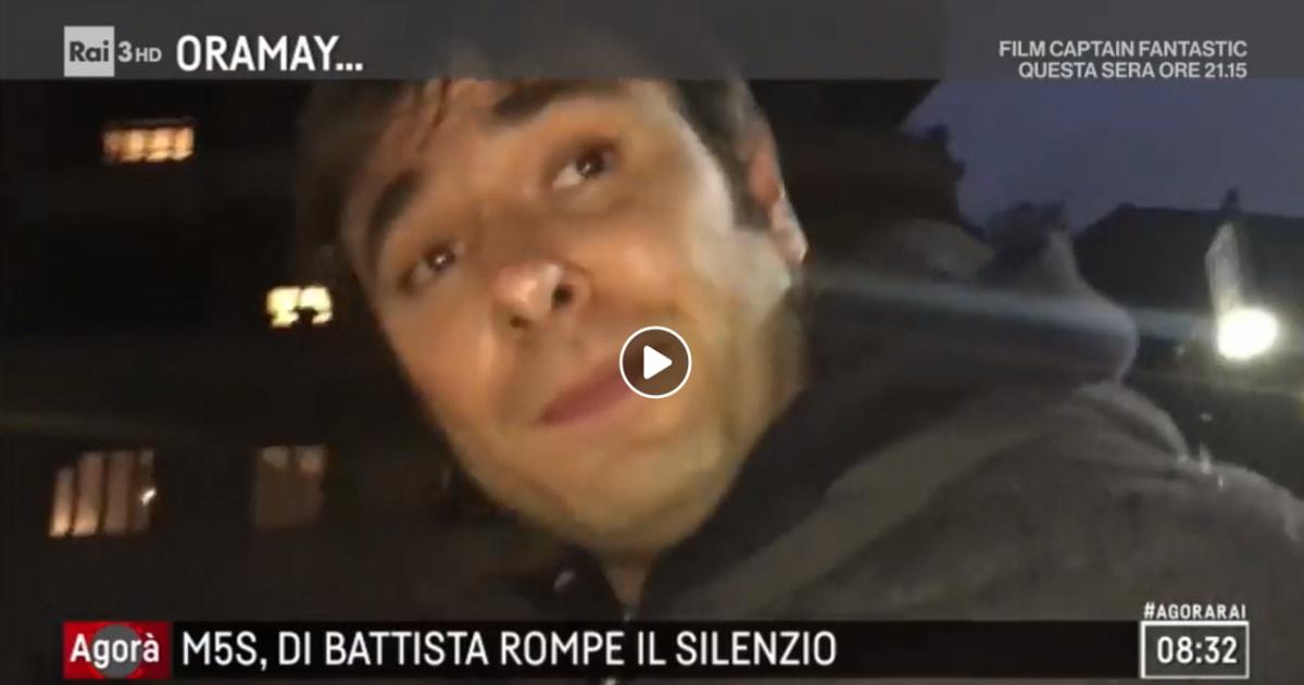 """Di Battista ad Agorà: """"Rispettate il mio silenzio"""""""