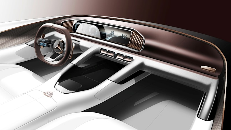 maybach suv concept gets a name interior teased ahead of beijing autoblog. Black Bedroom Furniture Sets. Home Design Ideas