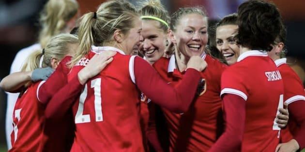Imagen de archivo de la selección femenina de fútbol noruega.