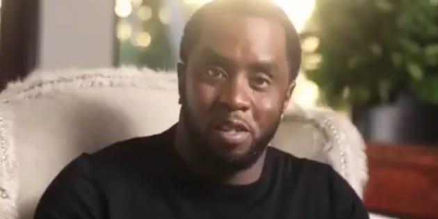 Le rappeur Puff Daddy dans une vidéo en hommage à The Notorious B.I.G.