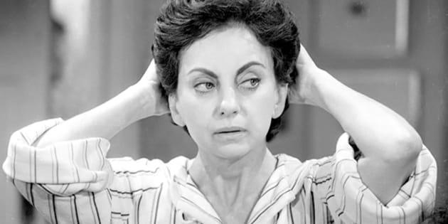 Beatriz Segall na novela 'Sol de Verão', em 1972, da Rede Globo.