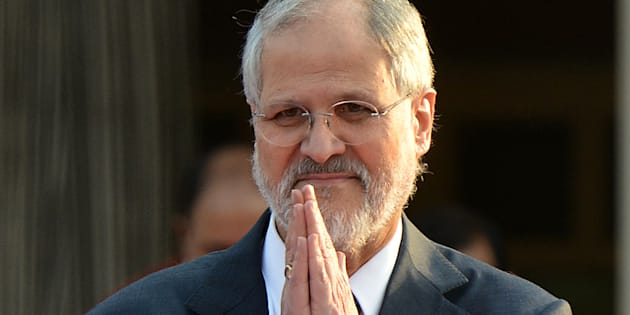 Lt. Governor Najeeb Jung during the felicitation of Battle Casualties, Gallantry Awardees and Distinguished Service Medal Winners at a function at Raj Niwas in New Delhi.