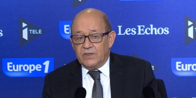 Le ministre de la Défense était l'invité du Grand Jury sur Europe 1/iTélé/Les Échos dimanche 6 novembre