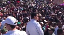 Peña Nieto adelanta el Grito con poblado damnificado por el