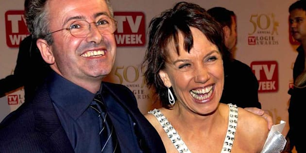 Andrew Denton with his wife Jennifer Byrne at the TV WEEK Logie Awards.