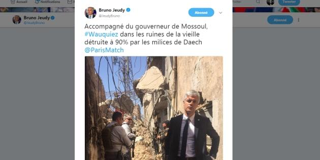 Cette photo de Laurent Wauquiez en Irak vaut le détour(nement).