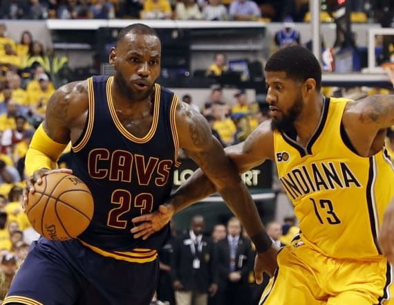 LeBron James scores 33 as Cavaliers sweep Pacers