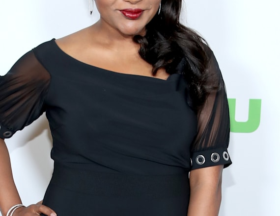 Mindy Kaling steps out in slinky dress
