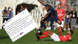Mbappé présente finalement ses excuses après son geste d'énervement face à