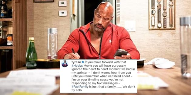 Tyrese Gibson pleads with Dwayne Johnson to ditch 'Fast & Furious' spin-off