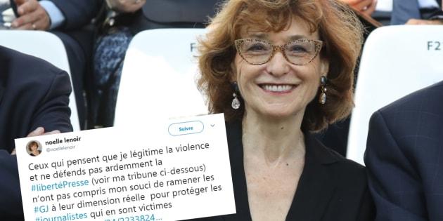 Noëlle Lenoir tente d'expliquer son tweet polémique sur les journalistes