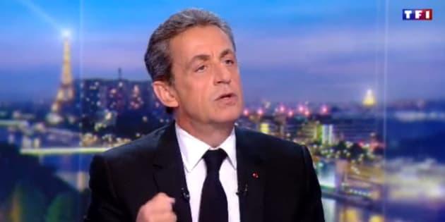 """Nicolas Sarkozy au 20H de TF1 """"veut dire la profondeur"""" de son """"indignation"""" et assure n'avoir """"jamais trahi"""" les Français."""