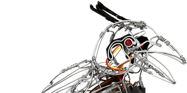traditional sa wire sculptures are transforming into robots