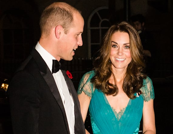 Kate stuns in turquoise gown for a night at a gala