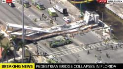 Crolla un ponte da 950 tonnellate a Miami.
