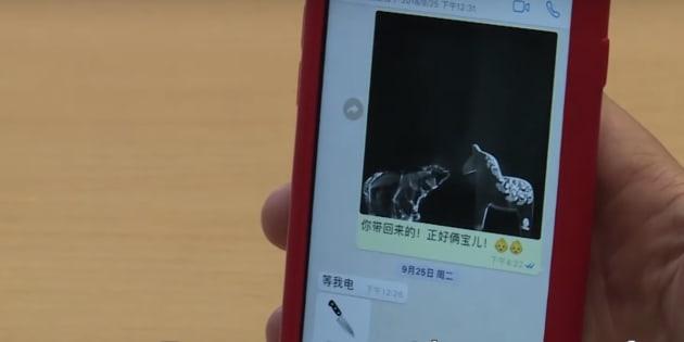 Captura del móvil de la mujer del presidente de Interpol.