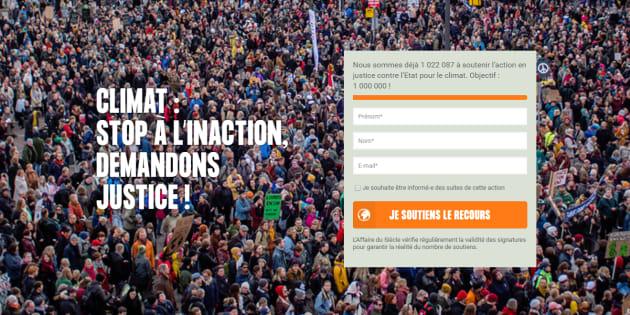 Plus d'un million de personnes ont déjà signé la pétition initiée par quatre ONG pour traîner l'Etat devant la justice en raison de son inaction climatique.