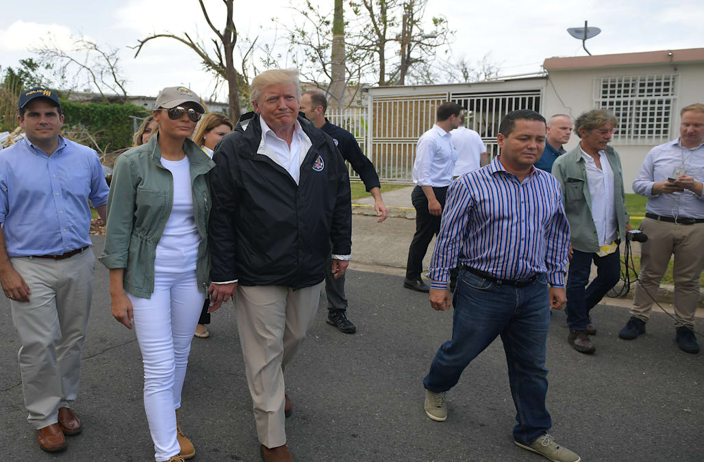 Melania Trump sports unexpected pair of shoes while in Puerto Rico